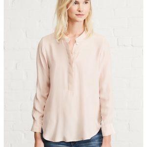 NWT Amour Vert Mina Silk Blouse Blush Pink Small